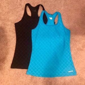 Two racerback tanks